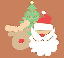 Santa & Reindeer #3 by simplepaperplan