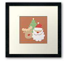 Santa & Reindeer #3 Framed Print