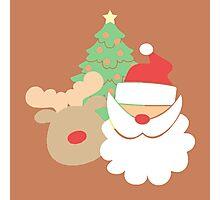 Santa & Reindeer #3 Photographic Print