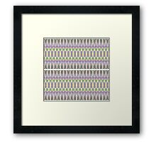 purple multi colored mirror Framed Print