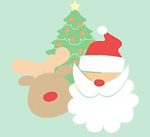 Santa & Reindeer #4 by simplepaperplan
