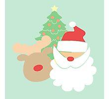 Santa & Reindeer #4 Photographic Print