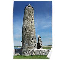 Temple Finghin, Clonmacnoise Poster
