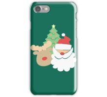 Santa & Reindeer #5 iPhone Case/Skin