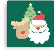 Santa & Reindeer #5 Canvas Print