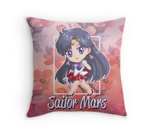 Chibi Sailor Mars  Throw Pillow