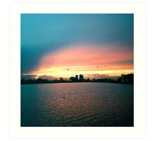 London Royal Docks Sunset Art Print