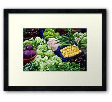 Fresh Organic Vegetables  Framed Print