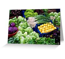 Fresh Organic Vegetables  Greeting Card