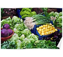 Fresh Organic Vegetables  Poster