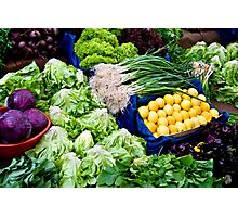 Fresh Organic Vegetables  Photographic Print