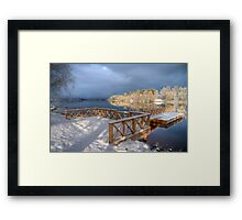 First Snow - HDR Framed Print