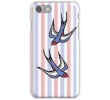Love Swallows Stripes iPhone Case/Skin