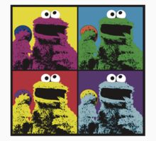 Cookie Monster Pop Art by Mel Preston