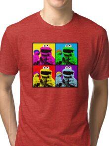 Cookie Monster Pop Art Tri-blend T-Shirt