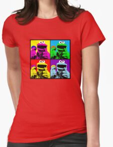 Cookie Monster Pop Art Womens Fitted T-Shirt