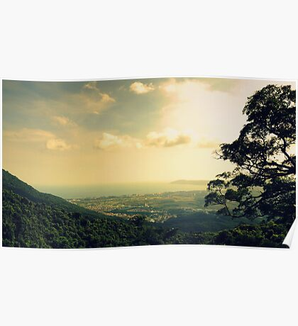 Sanya landscape from mountain, China Poster