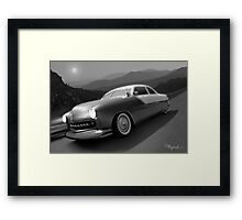 Moonlight Cruiser Framed Print