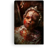 Creepy - Doll - It's best to let them sleep  Canvas Print