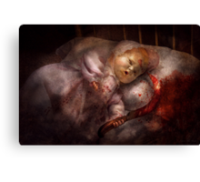 Creepy - Doll - Pleasant Dreams  Canvas Print