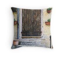 Door in Sassetta - Toscana - Italy Throw Pillow