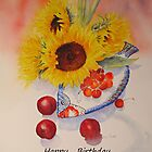 Sunflowers Birthday card by Beatrice Cloake