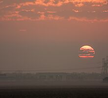 sunrise over highway by Manon Boily