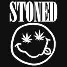 Stoned - white on black by fagbitch