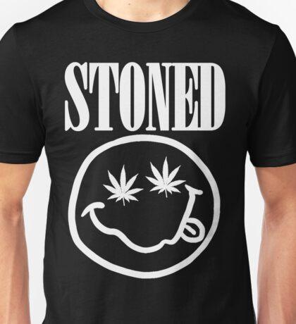 Stoned - white on black Unisex T-Shirt