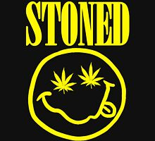 Stoned - yellow on black Unisex T-Shirt