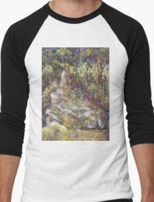 Ellenborough River - plein air Men's Baseball ¾ T-Shirt