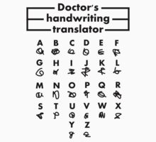 Doctor's Handwriting Translator by UtherPendragon