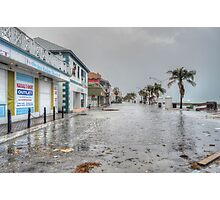 The day after Hurricane Sandy on Governor Woodes Rogers Walk in Downtown Nassau, The Bahamas Photographic Print