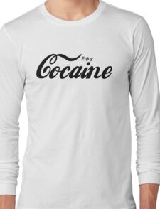 Enjoy Cocaine - white Long Sleeve T-Shirt