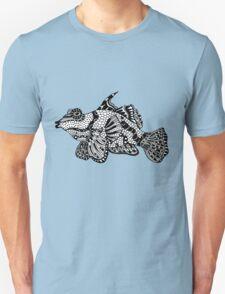 Mandarin Fish Zentangle T-Shirt
