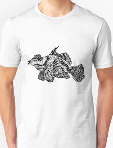 Mandarin Fish Drawing Unisex T-Shirt