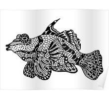 Mandarin Fish Zentangle Poster