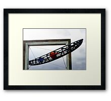 Boat Sculpture along side The River Tay Framed Print