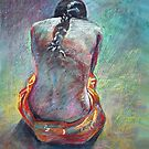 Girl with a Braided Ponytail by Anthony Barrow