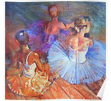 Resting Dancers Poster
