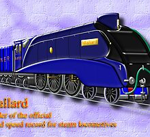 Mallard the Fastest Steam Locomotive by Dennis Melling