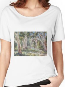Lake Innes Nature Reserve 2 - plein air Women's Relaxed Fit T-Shirt
