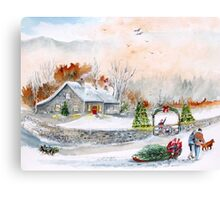 Home In Time For Christmas. 2012 Canvas Print