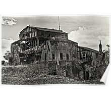 Gristmill Ruin - Platinum Toned Poster