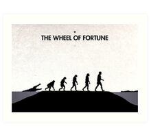 99 Steps of Progress - The wheel of fortune Art Print