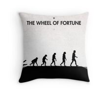 99 Steps of Progress - The wheel of fortune Throw Pillow