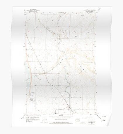 USGS Topo Map Washington State WA Wheeler 244637 1956 24000 Poster