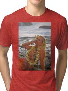Mermaid with Lei Tri-blend T-Shirt