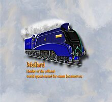 Mallard the Fastest Steam Locomotive iPhone case by Dennis Melling