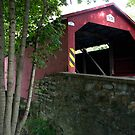 The Rishel / Montandon Covered Bridge, Circa 1827 by Gene Walls